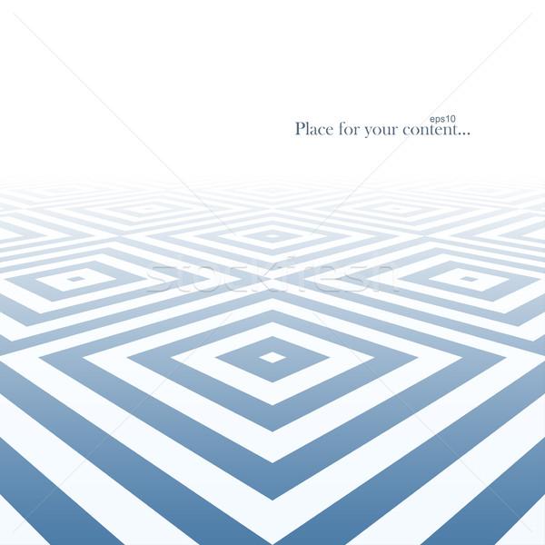 Soyut mavi geometrik dizayn Stok fotoğraf © ExpressVectors