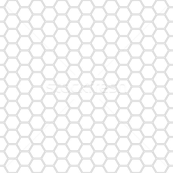 Esagono disegno geometrico senza soluzione di continuità eps10 business abstract Foto d'archivio © ExpressVectors
