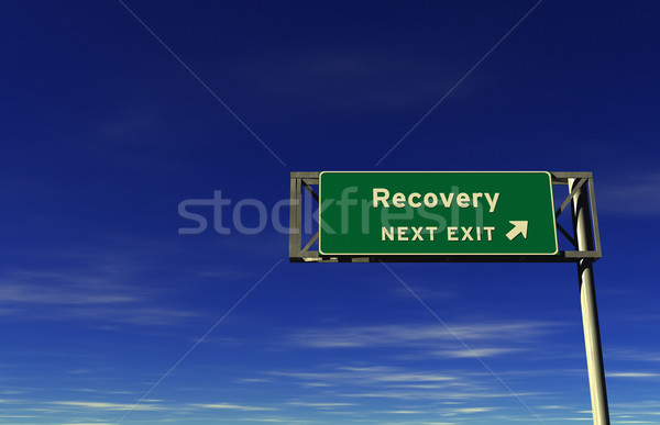 Recovery - Freeway Exit Sign Stock photo © eyeidea