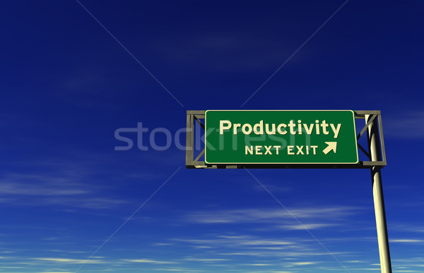 Productivity Freeway Exit Sign Stock photo © eyeidea