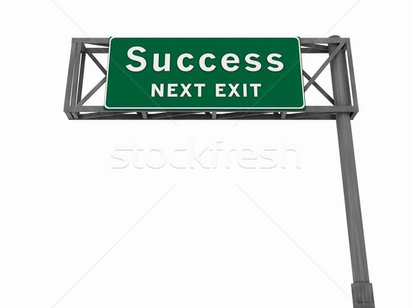 Stockfoto: Succes · snelweg · teken · super · hoog