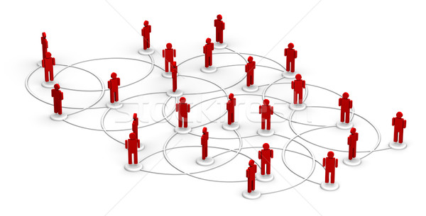 Network of People Stock photo © eyeidea