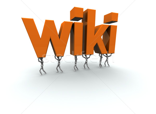 Equipe pessoas palavra wiki 3D Foto stock © eyeidea