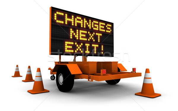 Changes - Construction Sign Message Stock photo © eyeidea