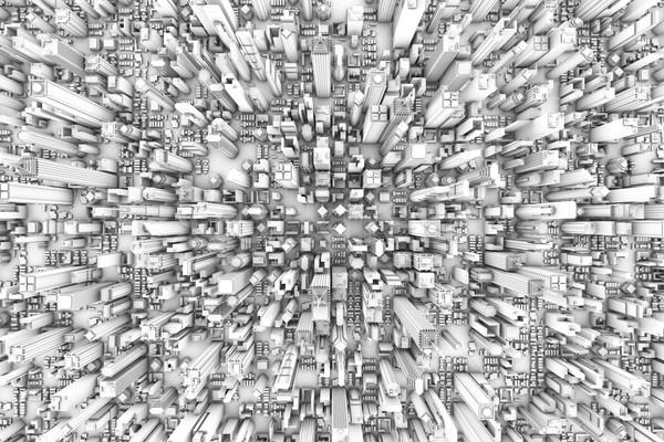 3D cidade edifícios negócio urbano Foto stock © eyeidea