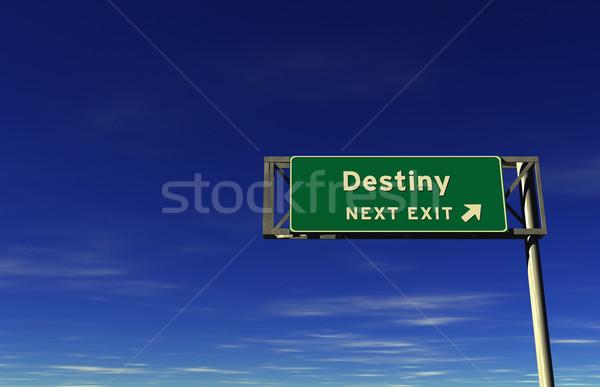 Destino autopista señal de salida súper alto Foto stock © eyeidea