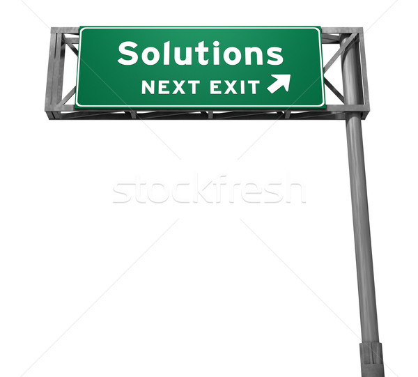 Solutions Freeway Exit Sign Stock photo © eyeidea