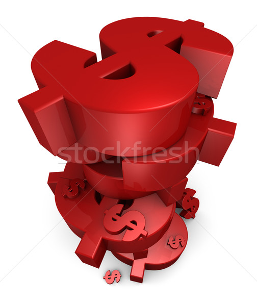 Stack of Red Dollars Stock photo © eyeidea