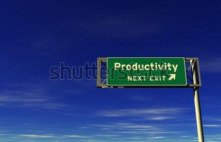 Teamarbeit Autobahn exit sign Super groß Auflösung Stock foto © eyeidea