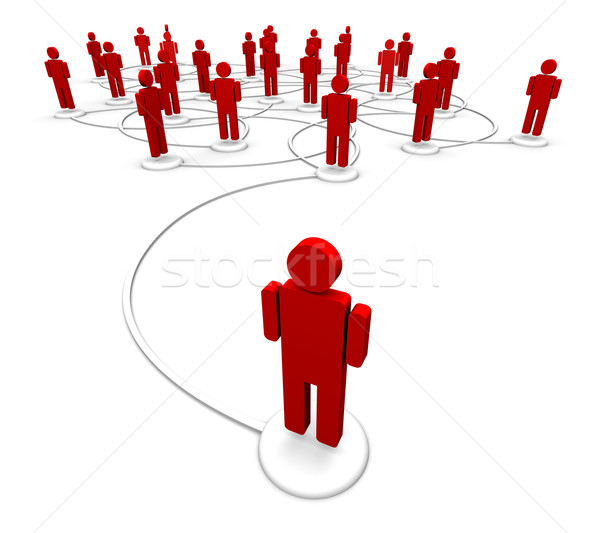 Red personas comunicación enlaces 3d icono Foto stock © eyeidea