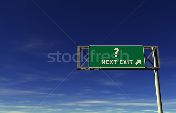 Question Mark Freeway Exit Sign Stock photo © eyeidea