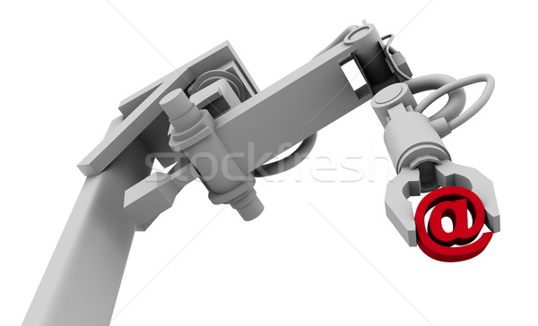 Symbool greep robot arm hoog Stockfoto © eyeidea