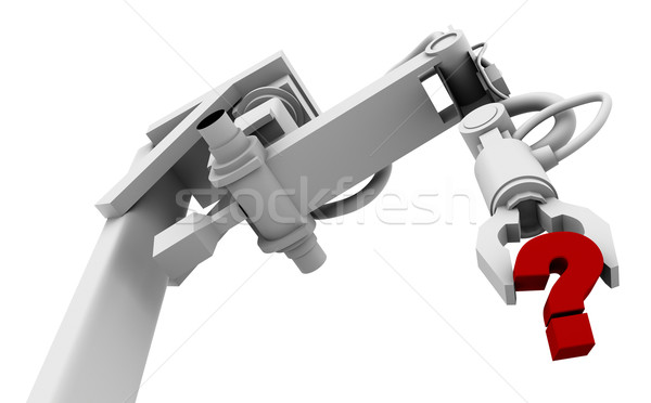 Question Mark in Grip of Robot Arm Stock photo © eyeidea