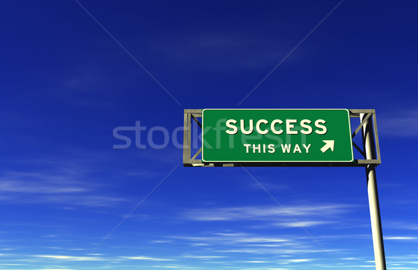 Success - Freeway Exit Sign Stock photo © eyeidea