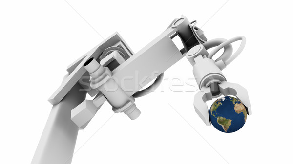 Earth in the Grip of a Robot Arm Stock photo © eyeidea