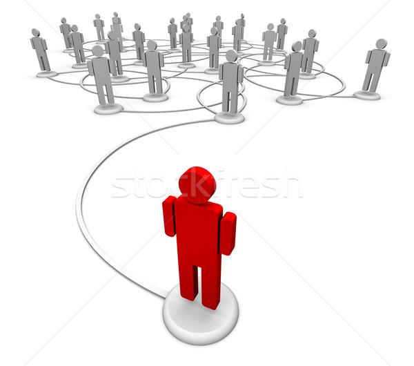 ストックフォト: ネットワーク · 人 · 通信 · リンク · 高い