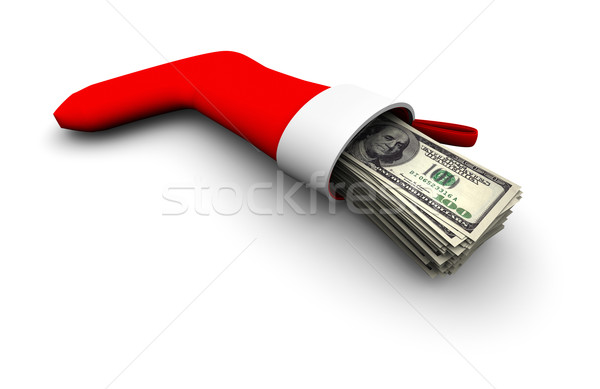 Dinheiro natal lotação super alto Foto stock © eyeidea