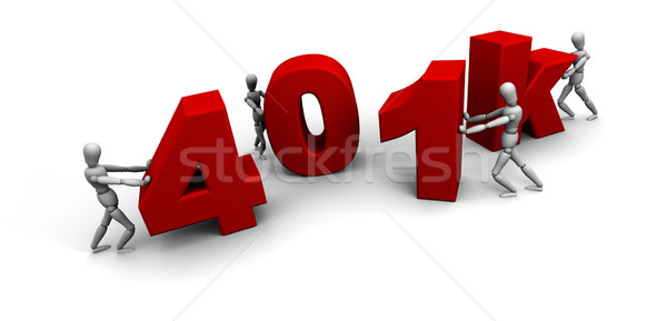 Team of People Pushing Together 401k Stock photo © eyeidea