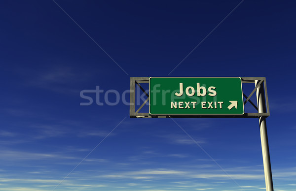 Jobs Freeway Exit Sign Stock photo © eyeidea