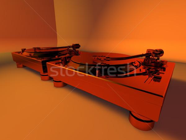 DJ Turntables Studio Club 3D Stock photo © eyeidea