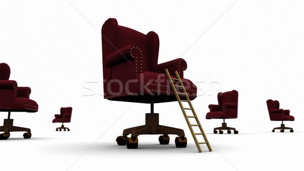 Corporativo escada executivo cadeira alto Foto stock © eyeidea