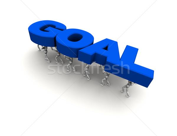 Stockfoto: Team · mensen · woord · doel · Blauw