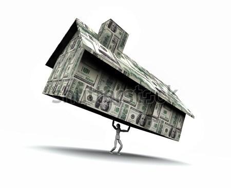 Homem casa dinheiro super alto Foto stock © eyeidea