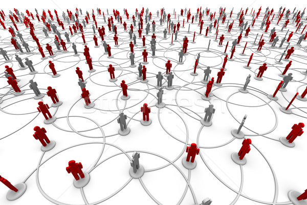 Stock photo: Network of People