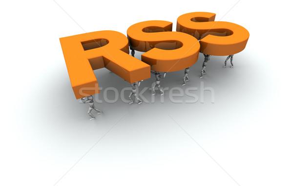 Equipe pessoas rss 3D palavra Foto stock © eyeidea