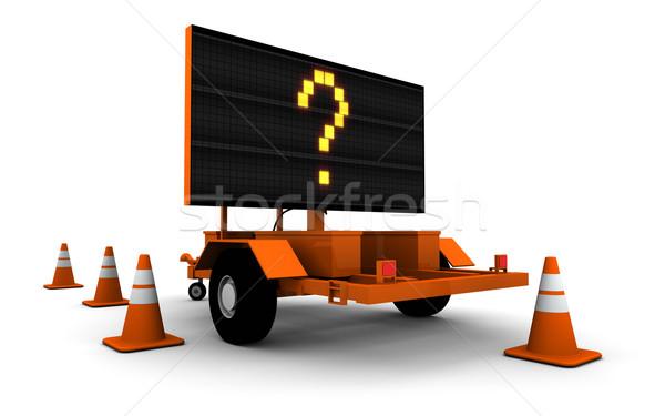 Ponto de interrogação estrada trabalhar assinar grande versão Foto stock © eyeidea
