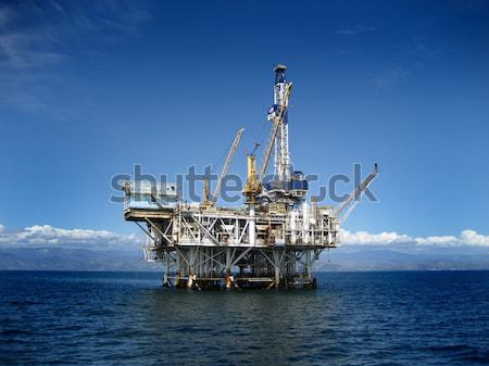 Photo stock: Plate-forme · pétrolière · forage · plate-forme · côte