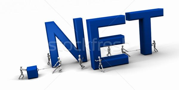 Equipe pessoas edifício com oito 3D Foto stock © eyeidea