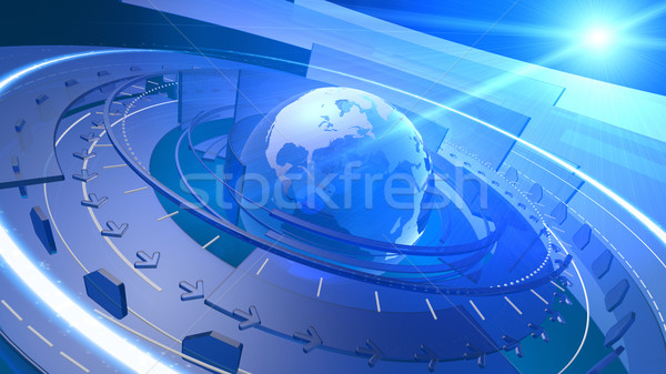 World Globe Digital Network Connection Background Stock photo © eyeidea