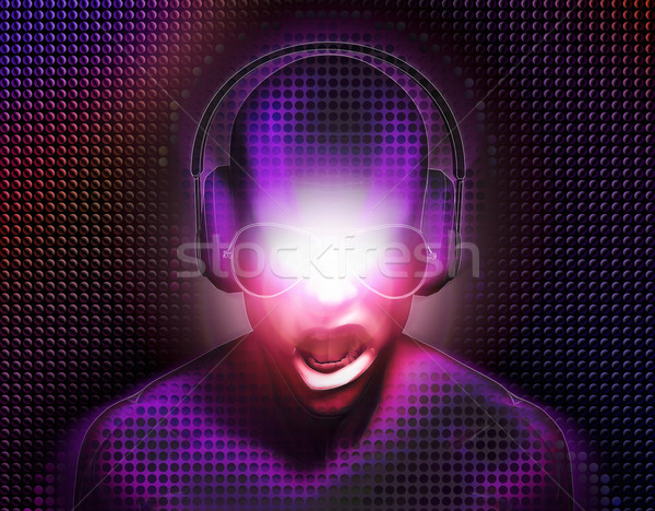DJ with Headphones Stock photo © eyeidea