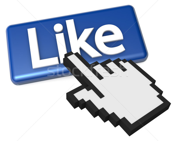 Finger Pointer Clicking the Like Button Stock photo © eyeidea
