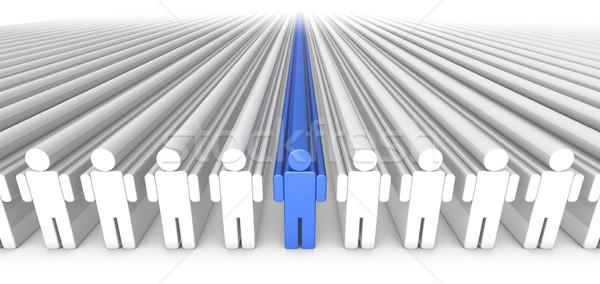 ícone pessoas 3D gráfico zoom azul Foto stock © eyeidea