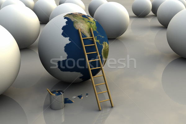 Earth Being Painted Stock photo © eyeidea