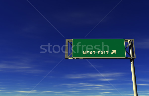 Blank - Freeway Next Exit Sign Stock photo © eyeidea