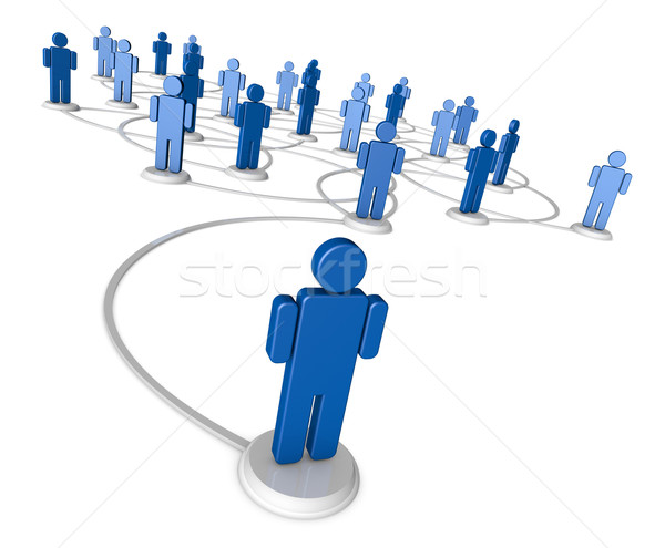 Stock photo: Social Network of People