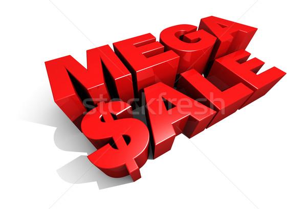 как продажи 3D графических текста Сток-фото © eyeidea