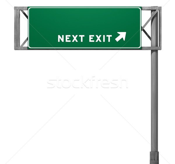 Autobahn exit sign gerade Ansicht Version Stock foto © eyeidea