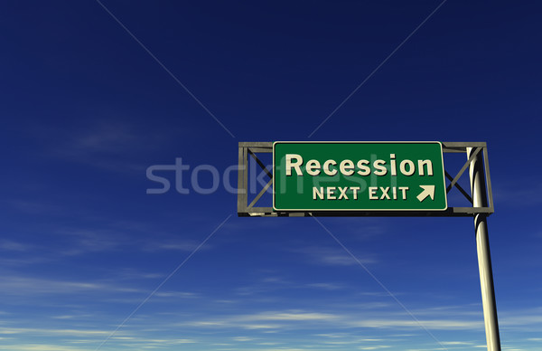 'Recession' Freeway Exit Sign Stock photo © eyeidea