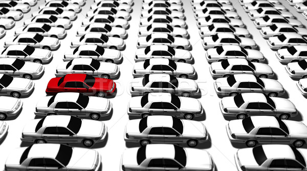 Lots of Cars, One Red! Stock photo © eyeidea