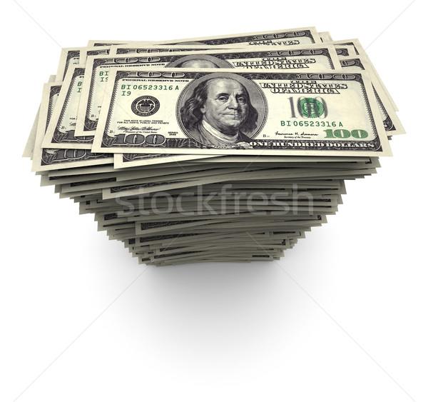 Egy száz ezer dollár számlák boglya Stock fotó © eyeidea