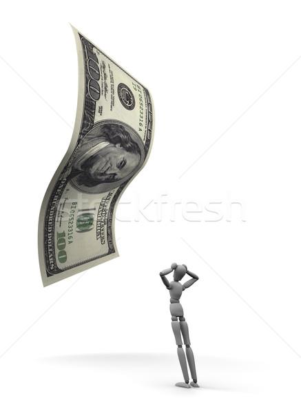Pessoa 100 dólar projeto de lei 3d render Foto stock © eyeidea