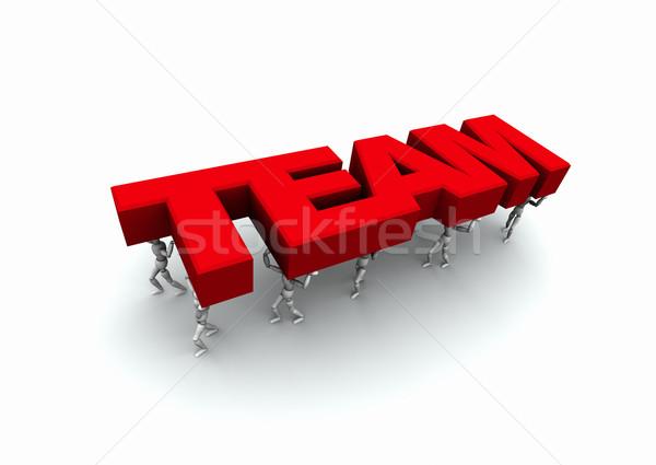 Pessoas palavra equipe 3D vermelho Foto stock © eyeidea