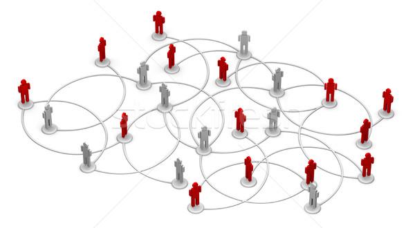 Rede pessoas alto ilustração 3d Foto stock © eyeidea