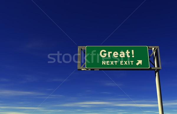 Groot super hoog geven snelweg Stockfoto © eyeidea