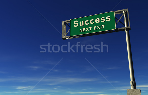 Stock photo: Success - Freeway Exit Sign