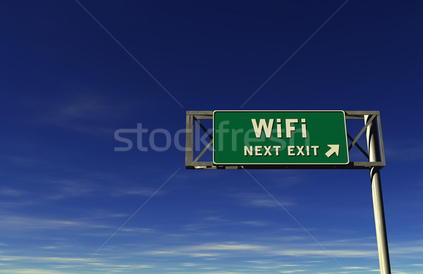 WiFi Freeway Exit Sign Stock photo © eyeidea